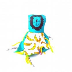 Doudou Couverture Banane Lion
